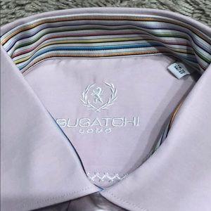 Bugatchi Shirts - NWT Bugatchi pink dress shirt stripe 16.5 36/37